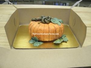 3-D Pumpkin Cake.