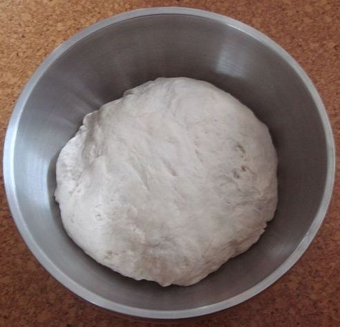 Dough after mixing, before the First Rise. Courtesy of Wikipedia.