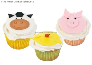 Baby Shower Farm Animal Fondant Toppers