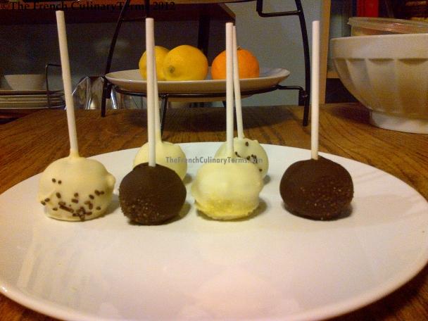 Yellow Sugar = Lemon Cake. Chocolate Jimmies = Chocolate Cake.