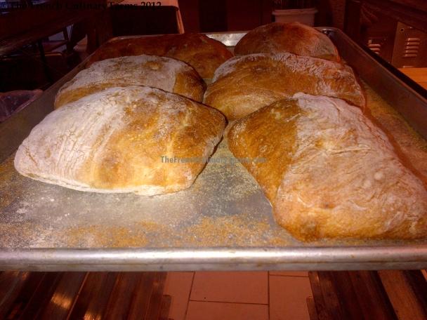 Freshly baked Ciabatta.