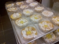 Lemon Meringue Tarts ready for Delivery.