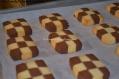 Checkerboard Shortbread Cookies.